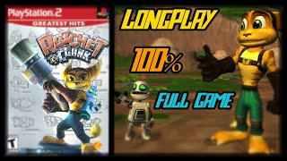 Ratchet & Clank - Longplay 100% Full Game Walkthrough (All Gold Bolts) (No Commentary)