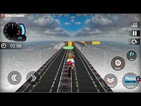 connectYoutube - Impossible Bike Tracks Stunts Rider / Extreme Bike Racing / Android Gameplay Video