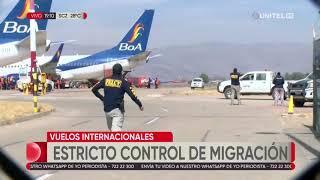 Migración realiza estricto control a vuelos nacionales e internacionales por el Covid-19