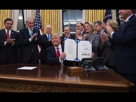 BREAKING: President Donald Trump Signs Interdict Act Targeting Drug Trafficking of Opioids