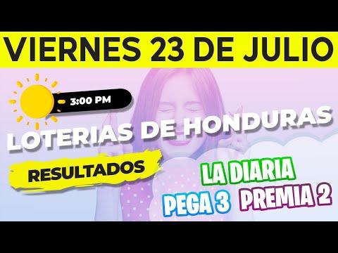 Sorteo 3PM Loto Honduras, La Diaria, Pega 3, Premia 2, Viernes 23 de Julio del 2021   Ganador