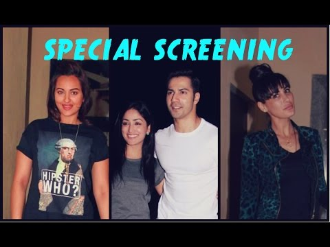 Sonakhi, Nargis & Varun At 'Badlapur' Special Screening