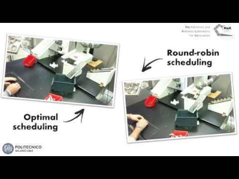Optimal scheduling of collaborative assembly tasks with ABB YuMi robot