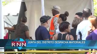 Junta del Distrito despacha materiales
