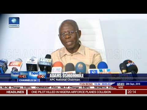 Adams Oshiomole Mistakenly Says APC Rigged Osun Election (Video)