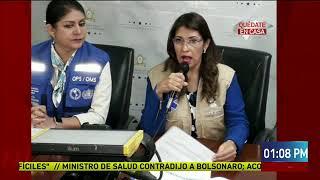 Secretaria de Salud y Representante de OPS aisladas por sospecha de Covid-19
