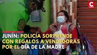Junín: Policía sorprende con regalos a vendedores por el Día de la Madre