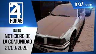 Noticias Ecuador: Noticiero 24 Horas 21/09/2020 ( De la Comunidad Segunda Emisión)