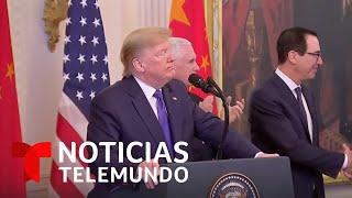 En vivo: El presidente Trump firma un acuerdo comercial con China