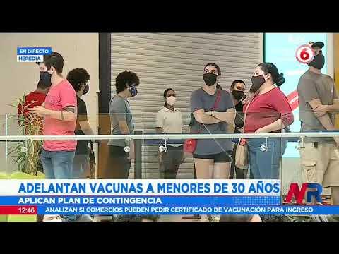 Adelantan vacunas a menores de 30 años