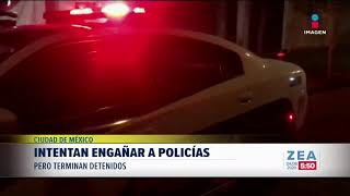 Sujetos intentan engañar a policías pero terminan detenidos   Noticias con Francisco Zea