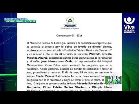 "Ministerio Público continúa proceso investigativo contra Fundación ""Violeta Barrios de Chamorro"""