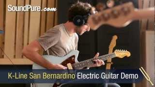 K-Line Guitars - K-Line San Bernardino Sonic Blue Electric Guitar Demo