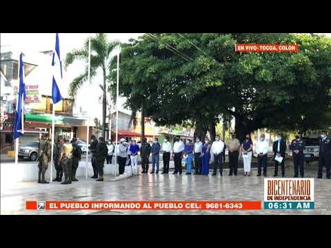 En Tocoa Izan Pabellón Nacional en honor al #BicentenarioHonduras