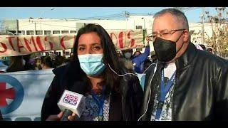 Funcionarios de Hospital Barros Luco protestan, no dan más ante la pandemia: