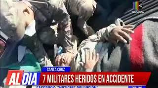 7 militares heridos durante un accidente de tránsito
