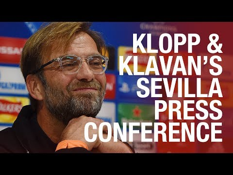 Klopp's Champions League press conference from Sevilla