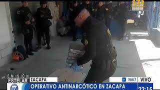 Incautan 32 paquetes de cocaína ocultas en un vehículo en Zacapa