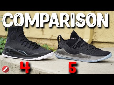 Under Armour Curry 4 & Curry 5 Initial Comparison!