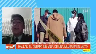 Hallan cuerpo sin vida de una  mujer la ciudad de El Alto