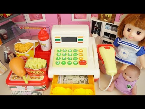 Baby doll convenience store food toys baby Doli play