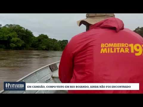 Em Camisão, corpo visto em rio boiando, ainda não foi encontrado