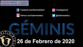 Horóscopo Diario - Géminis - 26 de Febrero de 2020
