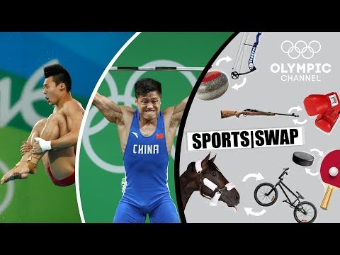 Diving vs. Weighlifting with Lü Xiaojun & Chen Aisen | Sports Swap