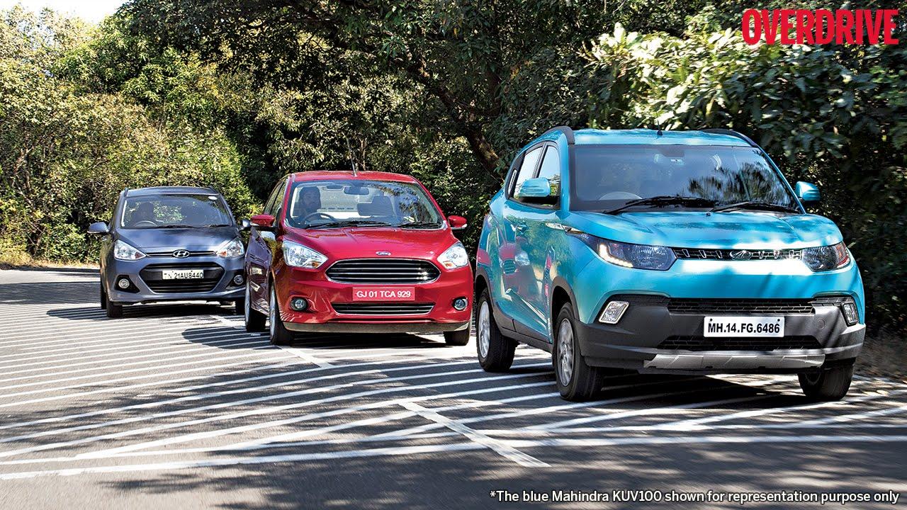 Mahindra KUV100 v Ford Figo Aspire v Hyundai Grand i10 - Comparative Review
