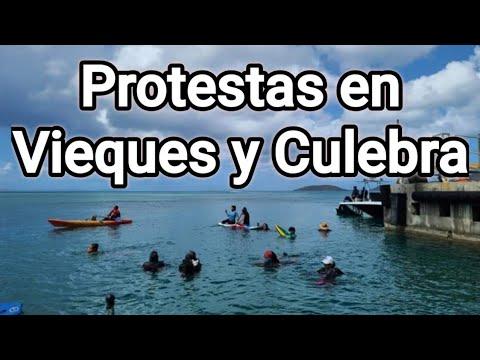 Residentes de Vieques y Culebra se Manifiestan- Mi Reacción