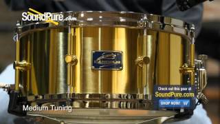 Canopus 6.5x14 The Brass Polished Shell Snare Drum - Quick n' Dirty