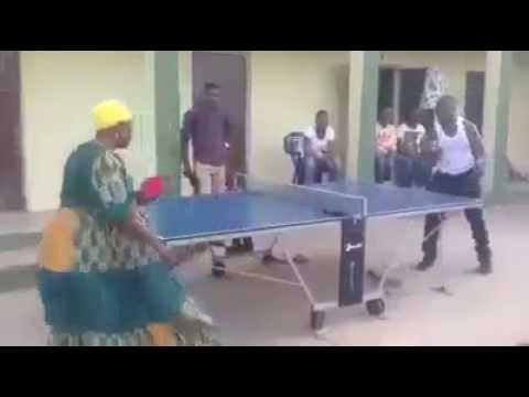connectYoutube - WOW!! Old Woman playing table tennis like a Boss