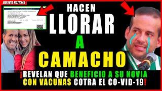 !LLO-RA CAMACHO! REVE-LAN QUE BENE-FICIO A SU NO-VIA CON VACU-N4S CON-TRA EL VI-RUS EN STA. CRUZ