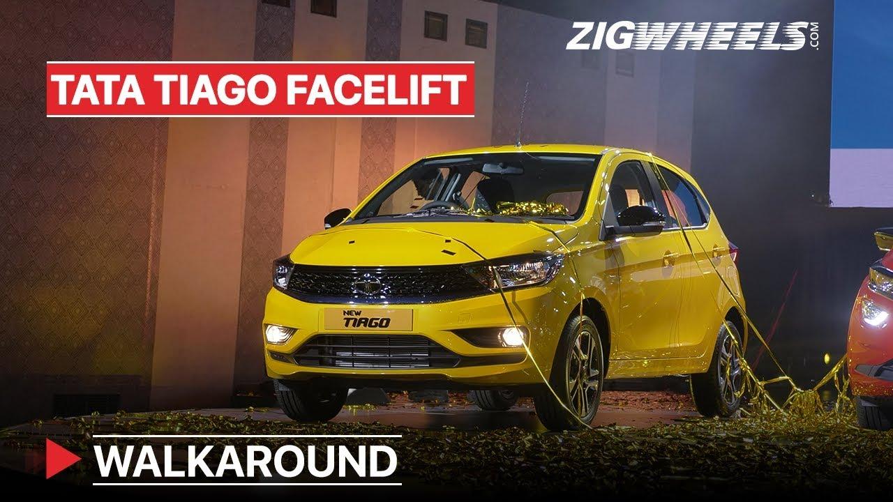 టాటా టియాగో ఫేస్లిఫ్ట్ walkaround | small car, little changes | zigwheels.com