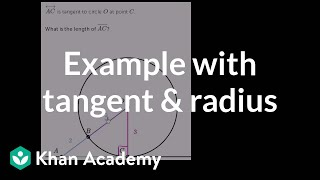 Example with tangent and radius