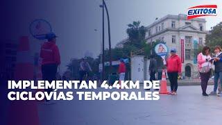 Implementan 4.4 km de ciclovías temporales en las avenidas Garcilaso, Tacna y Alcázar