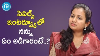 Civil's Topper Ashwija BV about her Final Round of Interview | Dil Se with Anjali | iDream Movies - IDREAMMOVIES