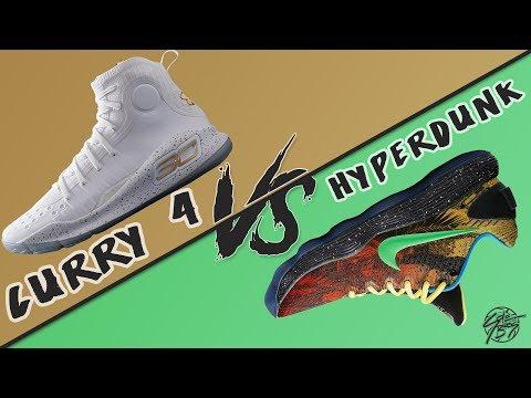 Under Armour Curry 4 vs Nike Hyperdunk 2017!