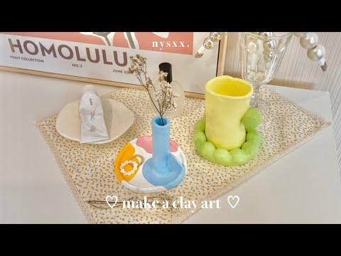 make-a-clay-art-*ヾ☁️🎨.°--สอนเท