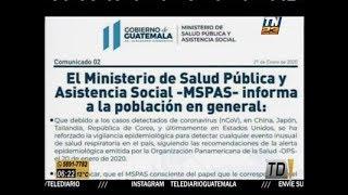 MSPAS refuerza vigilancia epidemiológica por coronavirus