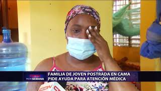 Familia de joven postrada en cama pide ayuda para atención médica