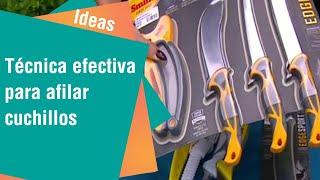 Técnica efectiva para afilar cuchillos | Ideas