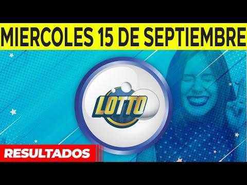Sorteo Lotto y Lotto Revancha del miercoles 15 de septiembre del 2021