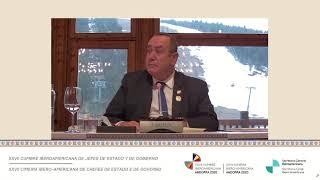 Presidente participa en la XXVII Cumbre Iberoamericana de Jefes de Estado y de Gobierno (21/04/2021)