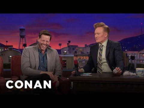 connectYoutube - Ike Barinholtz Teaches Conan About Butt-Chugging  - CONAN on TBS