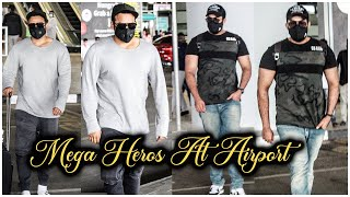 Varun tej backslashu0026 Sai Dharam Tej Spotted At Hyderabad Airport | Celebrities Airport Videos | TFPC - TFPC