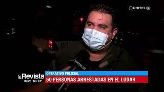 Cerca de 50 jóvenes fueron arrestados por encontrarse consumiendo bebidas en un local