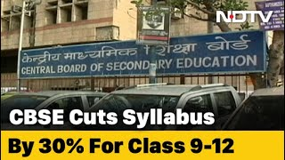 CBSE Syllabus To be Reduced For Next Academic Year. Details Soon - NDTV