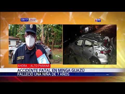 Niña de 7 años muere tras fatal accidente de tránsito en Minga Guazú