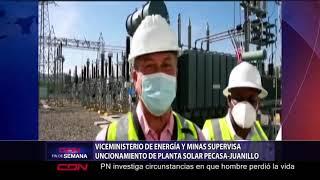 Viceministerio de Energía y Minas supervisa funcionamiento de planta solar Pecasa-Juanillo